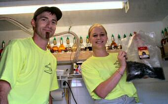Wally and Heather Wilson of Wallygators Express
